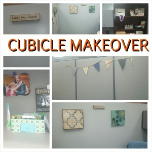 cubicle makeover, cubicle decor, office decorating