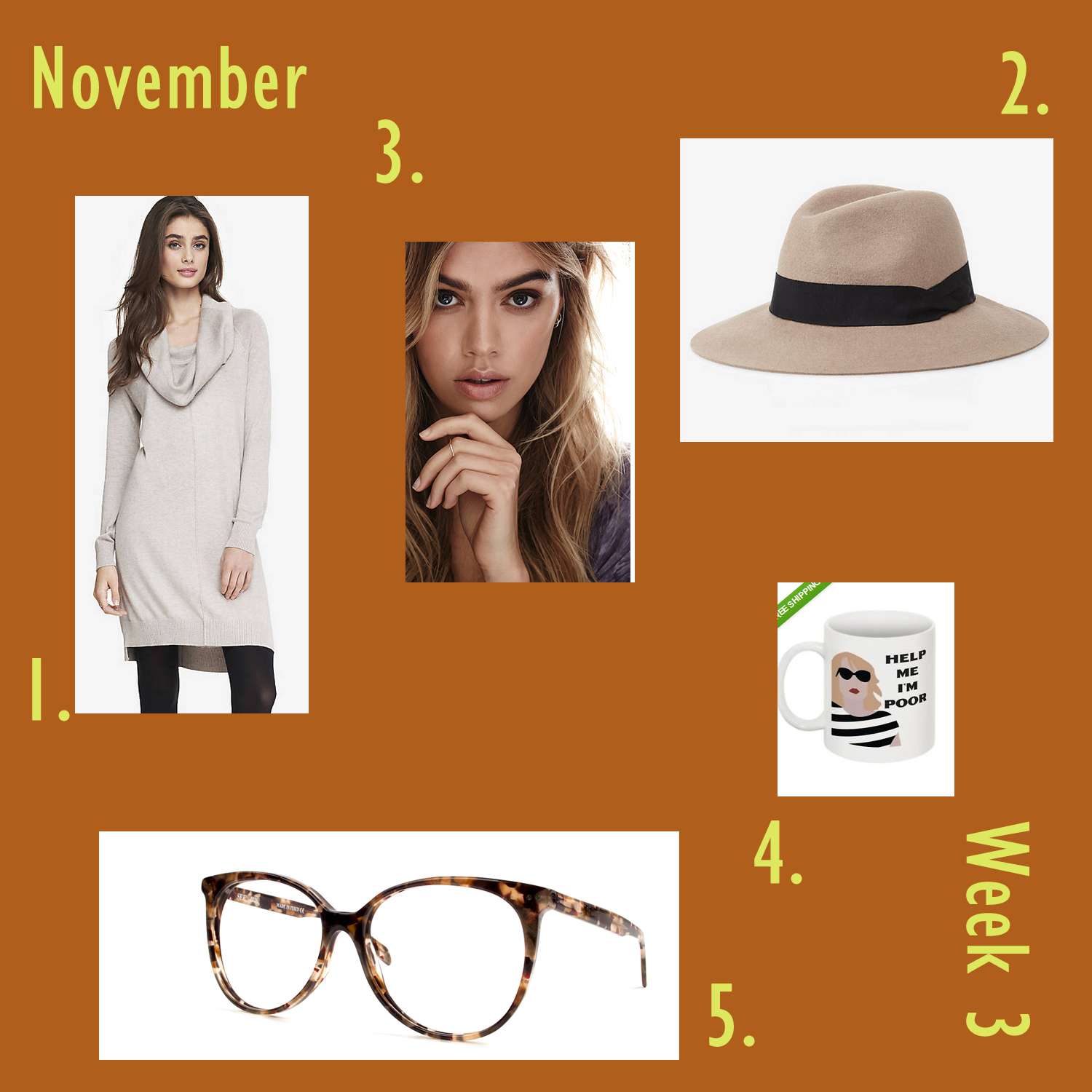 Work Week Style Inspiration Board, November Week 3